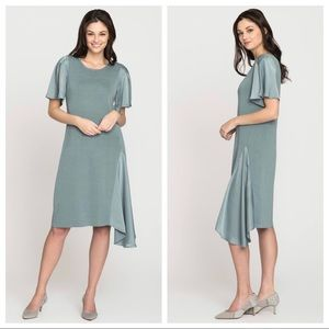 NIC+ZOE Mixed Flutter Asymmetric Dress